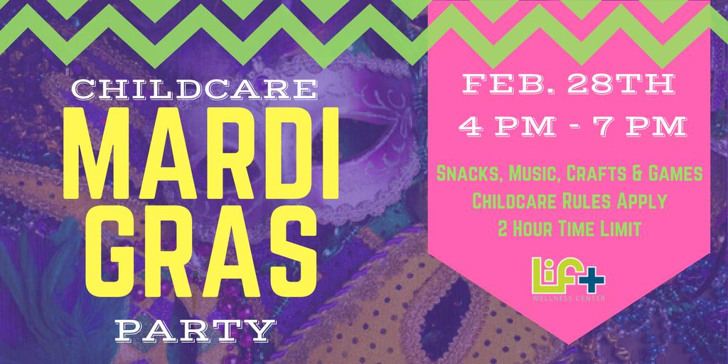 Childcare Mardi Gras Party