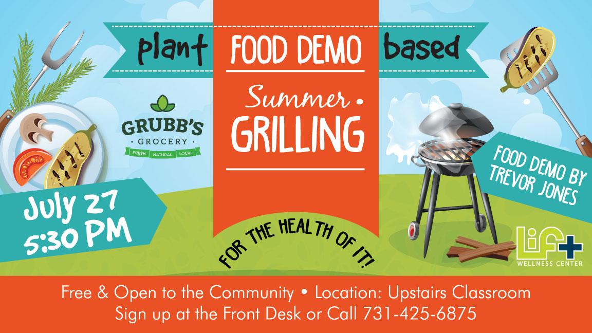 Plant Based Summer Grilling Food Demo