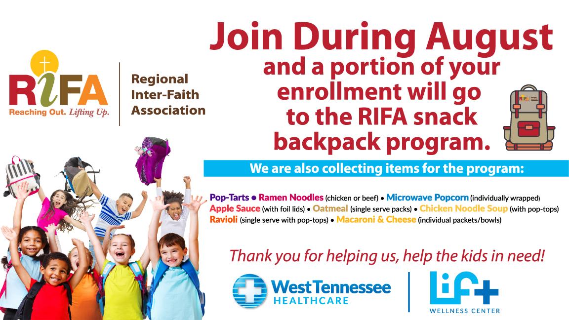 RIFA Snack Backpack Food Drive
